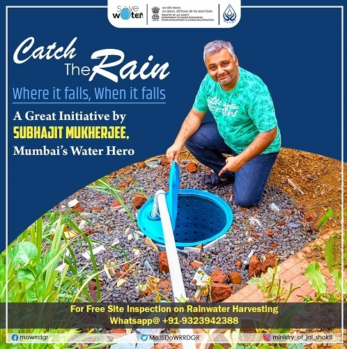 Subhajit has also taken on his shoulders, a movement aiming at water conservation