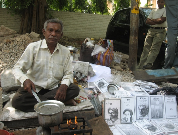 Shown the doors by publishing houses sets up his own publishing house. Tea Vendor writers story