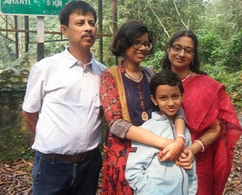 Anubrata and his family