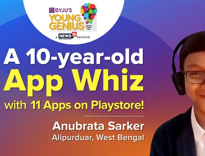 10 YO from bengal has seven apps on his name