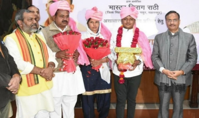 His amazing skills were recognised and honoured by the Deputy Chief Minister of the state Dinesh Sharma