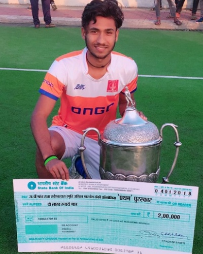 Sumit made it big and got a place in the Indian National Hockey team