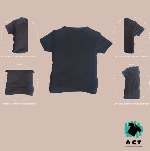 Autistic Compression T-shirt (A.C.T) specially designed for those with autism  by Saakshi Mahnot