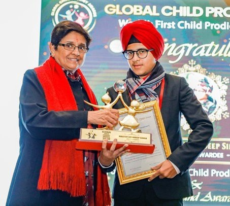 Arshdeep Singh was presented with the Global Child prodigy Award for his incomparable talent in photography