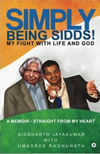 Siddharth has authored his autobiography called - Simply Being Sidds – My fight with Life and God