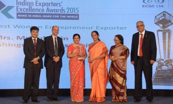Mridula Jain outstanding contributions to the textile industry, was honoured several times