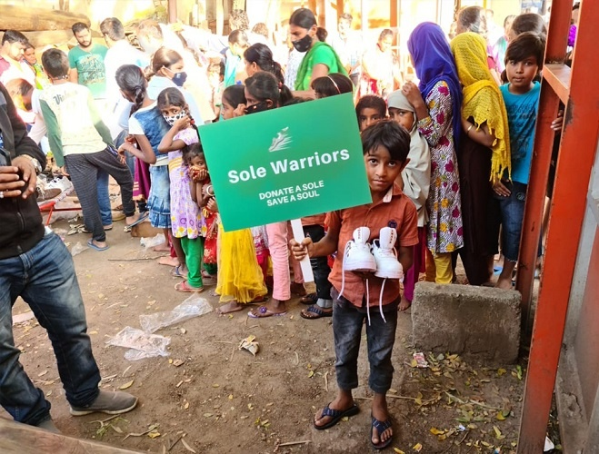 The initiative asks people to donate their unused shoes with the main motto as - Donate A Sole, Save A Soul