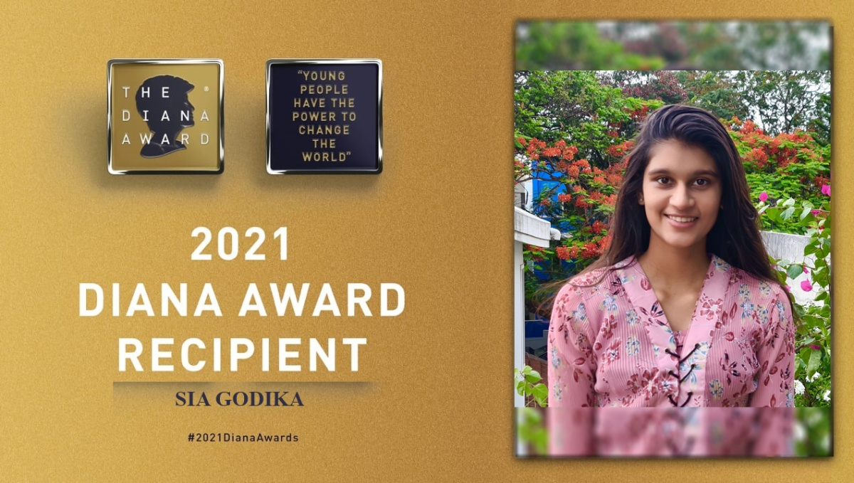 For her selfless contribution towards solving the most neglected concern, Sia Godika has been awarded the prestigious Diana Award