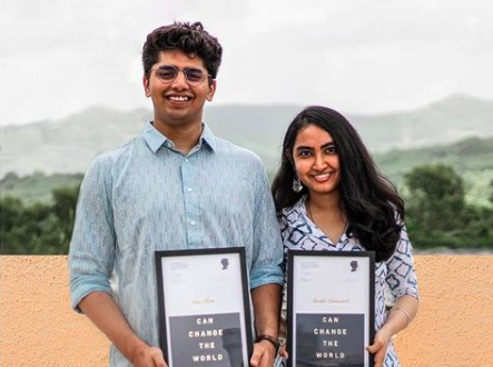 Neelika and Sagar recipient of The Princess Diana Award 2021 For their selfless contribution towards improving the mental health status of people