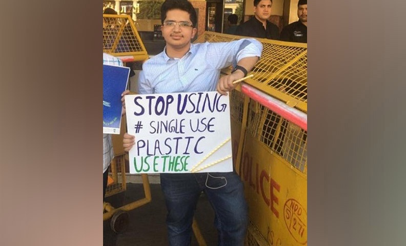 Aditya Dubey is eighteen years old and has led an initiative that planted over one lakh trees