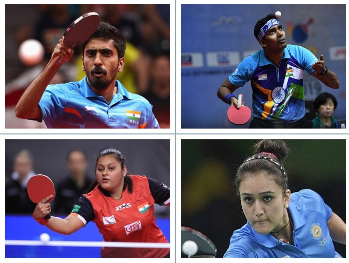 TT foursome ready to smash at the Tokyo Olympics. Lets cheer for these players