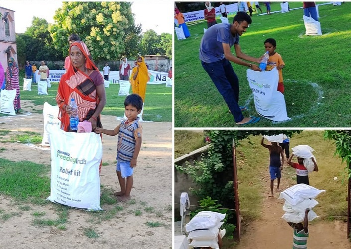 The Sahadeva Foundation stepped in to help distribute ration kits to over 4000 families and they have been raising funds through DonateKart