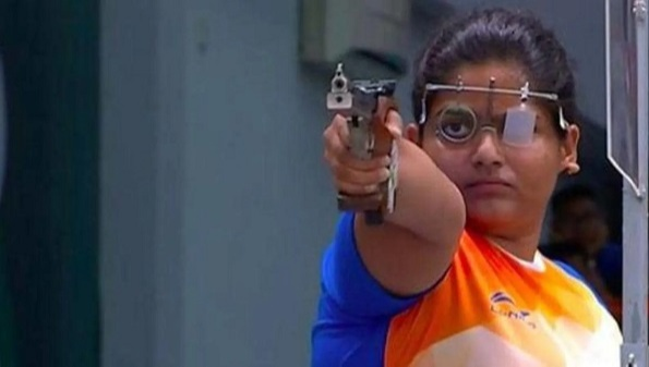 Rahi Jeevan Sarnobat is a female athlete from India who competes in the 25 meters pistol shooting event