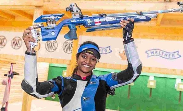 Elavenil Valarivan represents India in the 10m Women's Air Rifle category at the 2020 Tokyo Olympics
