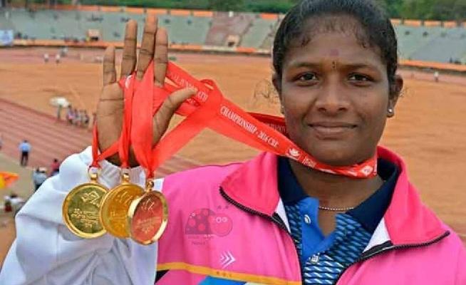 Revathi is  the fastest Indian woman clocking 53.55 seconds to cross the finish line ahead of Shuba V, S. Dhanalakshmi, Jisna Mathew and the Asian Games gold medal winner VK Vismaya
