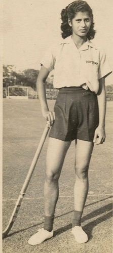 Mary D'Souza Sequeira is an Indian female Olympian who competed internationally in both Track and Field and Field Hockey