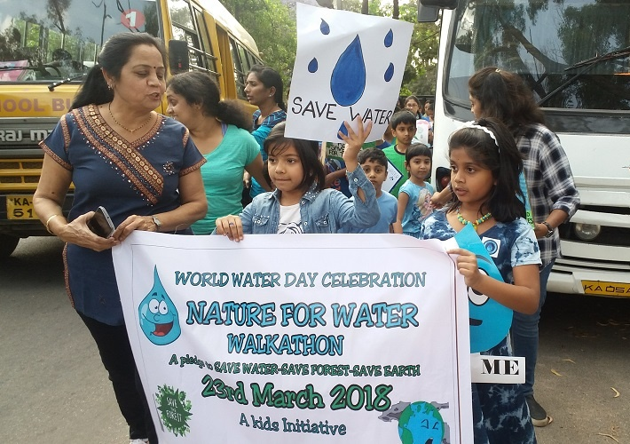 Lets all together join hands to restore our earth, says Manya