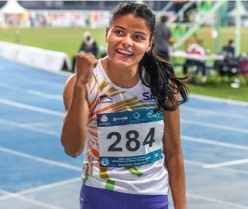 Simran would represent India in the 100m T13 category Women's Track and Field