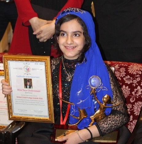 Tara Ghahremani was conferred with the Global Child Prodigy Award 2020