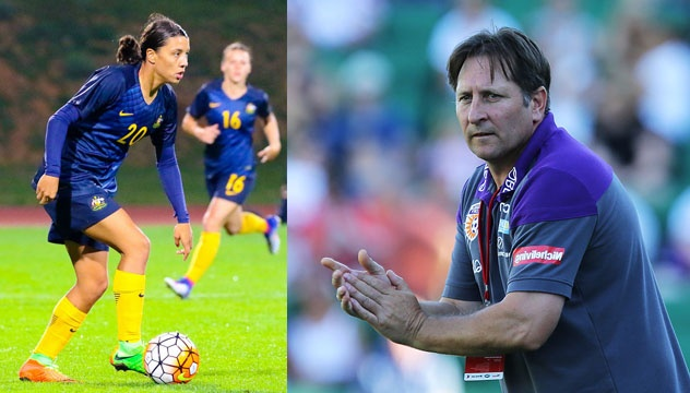Bobby Despotovski, the Perth Glory striker spotted samantha and quoted her as an exceptional talent