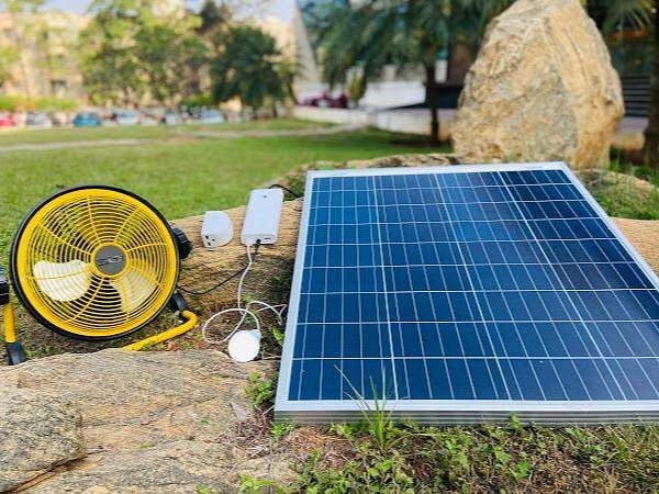 The portable device can simultaneously power 3 electrical devices at the same time, for e.g a fan, an LED light and even a small advertising board for 4-6 hours
