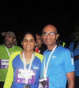 we enjoyed running and the benefits it brought to my well-being. Also as a couple, it was a way of spending time together