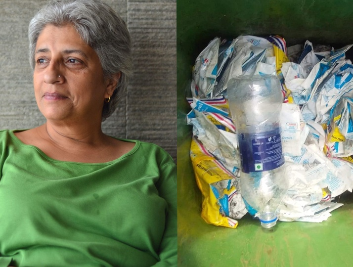 Plastic Milk packets discarded thoughtlessly. This entrepreneur is making use of them