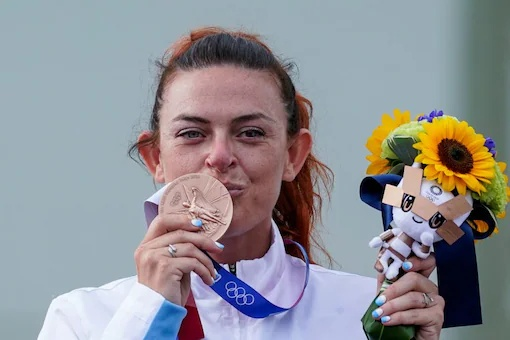 This self-motivation made her win the first-ever Olympic medal, the bronze, for San Marino
