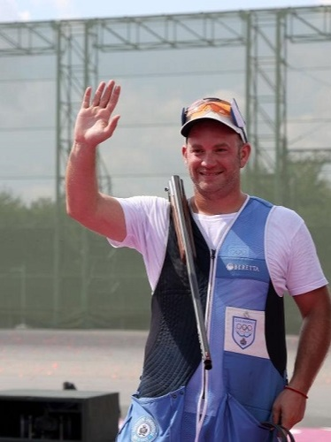 Gian Marco competed in the men's trap and the mixed trap team events at the 2020 Summer Olympics