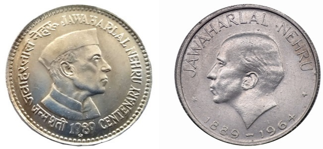 The first commemorative coin was issued to honour India's first Prime Minister Jawaharlal Nehru in the year 1964