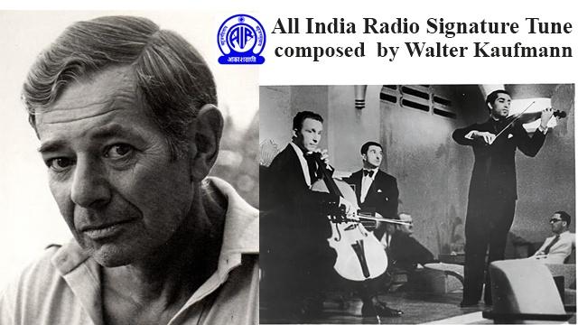 All India Radio's signature tune. The creator a Jewish Refugees contribution
