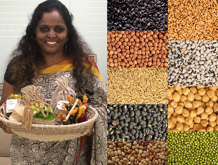 Growing Navadhanya (Nine grains) that implements crop rotation process whose advantages to the farmers and soil are bountiful