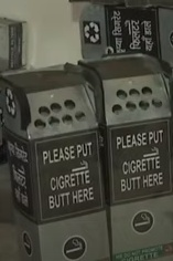 Twinkle Kumar bought 1-1 boxes and placed them at shops and smoking zones asking smokers to discard the cigarette butts in them