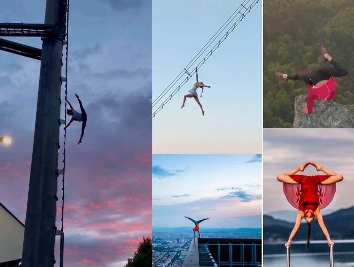 Handstand artist makes it to the record books with her jaw-dropping feats
