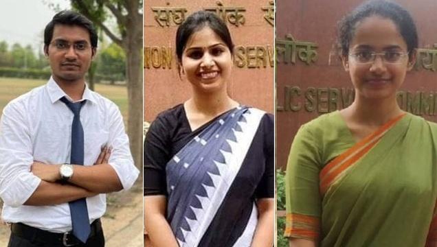 Shubham Kumar, Ankita Jain and Jagrati Awasthi Toppers of UPSC CSE 2020