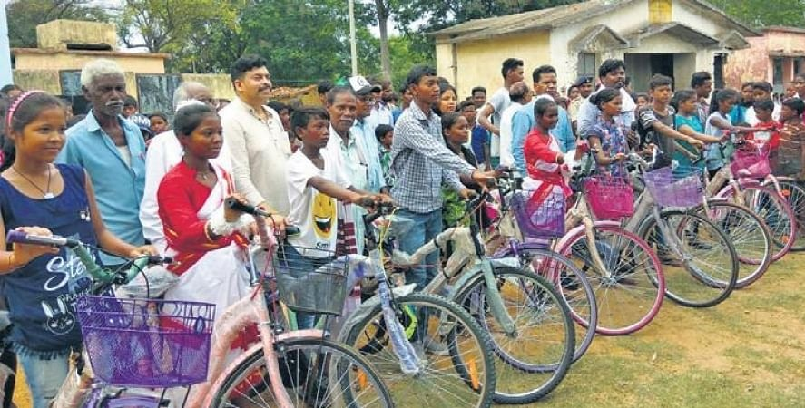 We also give bicycles to students from government schools in rural areas who secure above 75 per cent marks