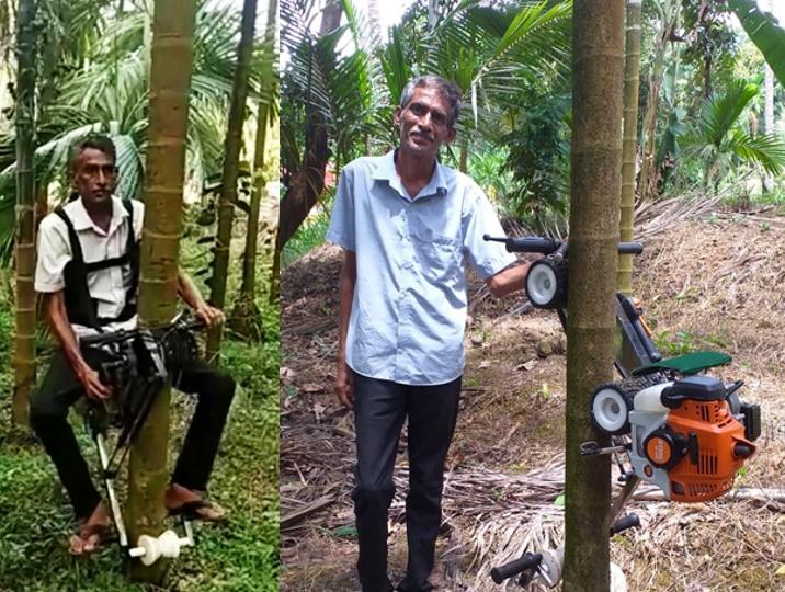A Bike climb tall trees in just 30 min, covers 90 Areca nut trees. Gaining international attention