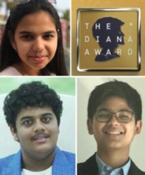 indian teens who bagged the diana award