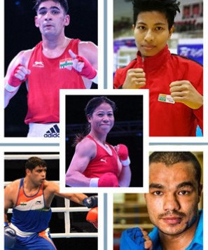 nine indian boxers at the tokyo olympics